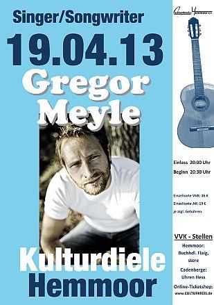 öfter Gregor Meyle @ Kulturdiele - Culturkreis Hemmoor e. V.