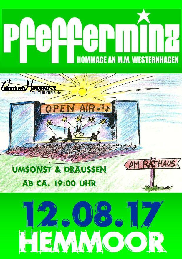 Open Air am Rathaus Hemmoor - Umsonst & Draussen - Pfefferminz - Marius Müller Westernhagen Coverband
