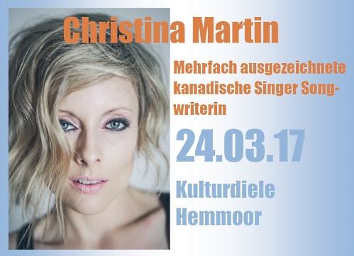 Singer/Songwriterin - Christina Martin