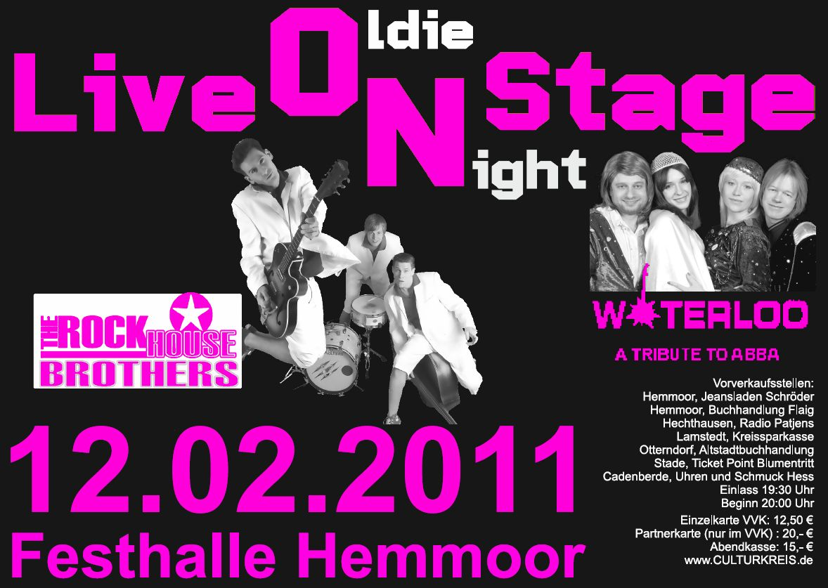 Live On Stage - Culturkreis Hemmoor - Ex-Oldie-Night