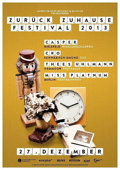 Zurück Zuhause Festival - Flyer - Thees Uhlmann - Festhalle Hemmoor