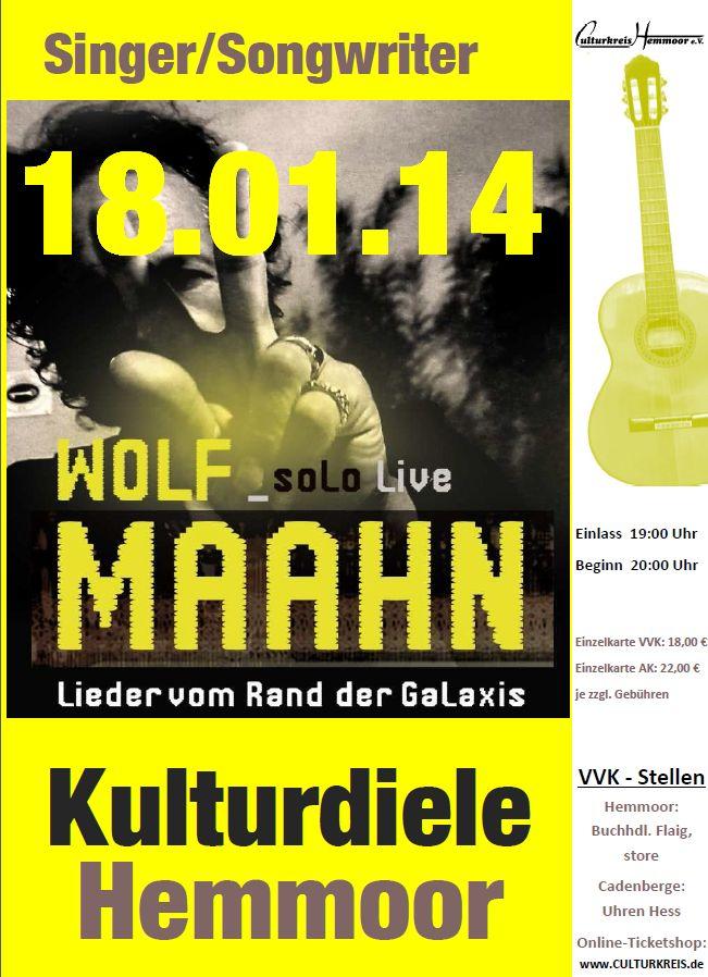 Wolf Maahn - Kulturdiele - Hemmoor