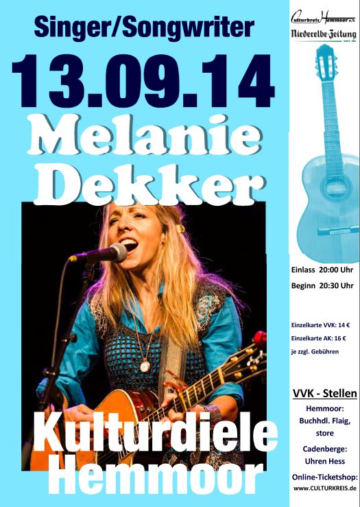 Melanie Dekker - Kulturdiele - Culturkreis Hemmoor e.V.