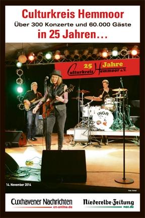 NEZ Broschuere - 25 Jahre Jubiläum Culturkreis Hemmoor e.V.